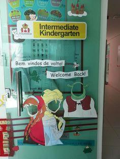 Fairy tale school door