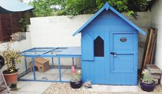 How to turn a playhouse or shed into a rabbit house