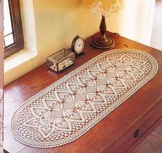 Camino de mesa a crochet   Tejo y bordo