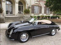 Black Porsche 356 Speedster