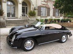 Black Porsche 356 Speedster