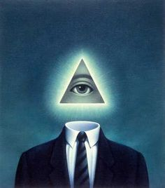 omnipresnt eye in the triangle | Stock Illustration - Businessman With Pyramid Eye