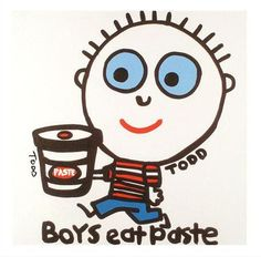 Boys Eat Paste - Limited Edition Giclee on Canvas byTodd Goldman