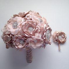 Tela ramo ramo de Champagne ramo de flores de tela broche