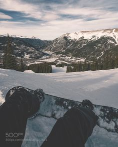 Snowboarding View by salvadorsalais85