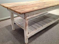 "COFFEE TABLE WITH BEAD BOARD SHELF  - 48"" X 24"" X 18"" - MADE IN AMERICA - WWW.MILLSFLORAL.COM"