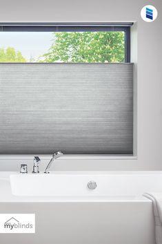 MyBlinds Room Darkening Cellular Shades Bathroom Window Treatments, Bathroom Windows, Honeycomb Shades, Curtains And Draperies, Cellular Shades, Bamboo Shades, Light Filter, Window Dressings, Home Additions