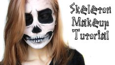 Skull Makeup Halloween Tutorial | AHS Tate Inspired