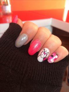 Unicorn nails . Pink . 😍🎀🦄