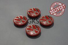 4 x VW Golf Jetta Passat Amarok Caddy EOS CC Alloy Wheel Centre Caps RED 65mm Volkswagen Amarok, Vw Amarok, Vw Passat, Vw Eos, Car Wheels, Alloy Wheel, Centre, Golf, Cap