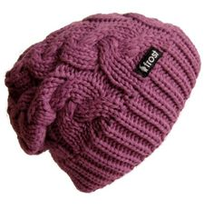 9e58f192ade Amazon.com  Frost Hats Winter Hat for Women PURPLE Slouchy Beanie Cable Hat  Knitted