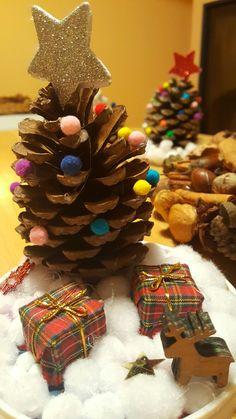 Vánoční stromeček z šišky