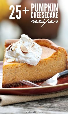 Pumpkin Cheesecake Recipes | anightowlblog.com