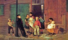 John George Brown (American artist, 1831-1913).  The Bully of the Neighborhood