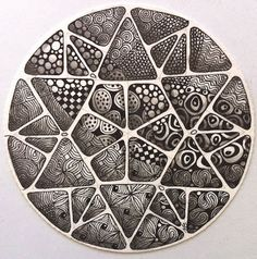 LOVE Margaret Bremner's Zendalas! #Zentangle #CertifiedZentangleTeacher