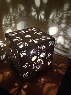 Lasercut Sugar Skull Light, Dia De Los Muertos decorations