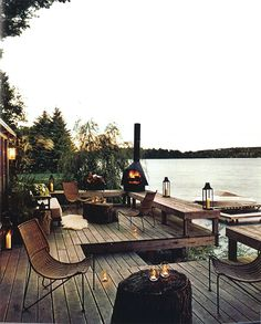 fire. lake house! perfect for guests to mingle and relaxing nights with your family/husband