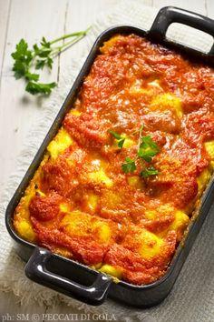 Peccati di gola: Parmigiana di gnocchi di polenta Gourmet Recipes, Cooking Recipes, Cafe Food, Light Recipes, Easy Cooking, I Love Food, I Foods, Italian Recipes, Food And Drink