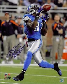 Calvin Johnson Autographed Detroit Lions