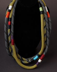 African Ndebele #necklace by Pichulik