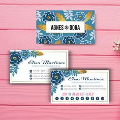 Agnes and Dora Business Card, Custom Agnes and Dora Punch Card, Custom Business Card, Printable Business Card AD07
