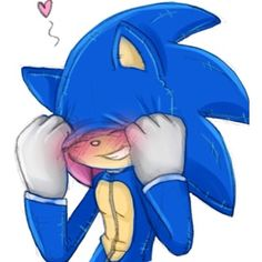 Amy rose dressed up as Sonic. xD