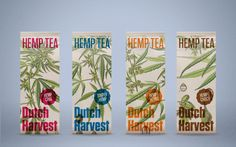 Check Out This Hemp Tea Packaging That is Unmistakably Sustainable — The Dieline | Packaging & Branding Design & Innovation News