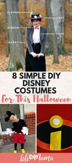 You don't have to spend an arm and a leg to get an adorable, functional and affordable Disney costume this year. You can make one yourself and your kids will be comfortable and stylish! Check out this easy list of DIY Disney costumes.