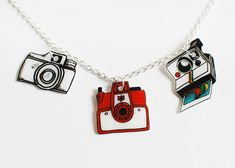 shrink plastic camera charms by Something Monumental