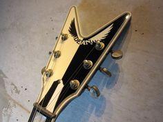 """画像3: DEAN USA Michael Schenker """"7 of 75"""" 10th Anniversary LTD Guitar Wall, 10 Anniversary, Bass, Rock, Guitars, Locks, Rock Music, Lowes, Stone"""