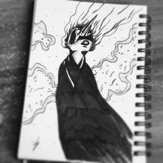 Day 11 - #pest is coming . #run #seasonofthebadguysclub2 #lowbrowart #lowbrowwolfpack #sicksoulssocialclub #inktober #inktober2017 #ink #tattoo #sketch #illustration #doctor #girl #mask #hamburgart #darkartist