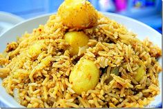 Small potato biryani recipe - spicy and flavorful recipe with step by step pictures!