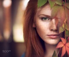 Autumn 2 von Tanya   Markova - Nya – Foto 126725095 - 500px.  (500px autumn color daylight eyes girl green light model people photo photography photoshop red redhair sunlight)