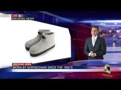 Norwegian Boiled Wool Slippers hits the US market - YouTube