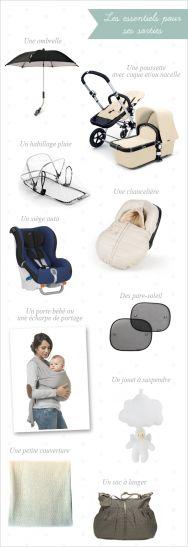Sortir avec bébé, ce qu'il vous faut