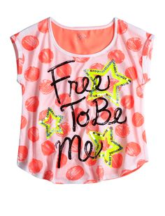 Polka Dot Typography Top | Short Sleeve | Tops & Tees | Shop Justice