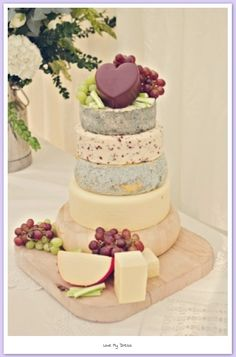 A cheese wedding cake as an appetizer