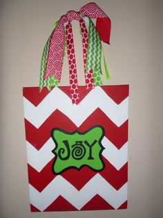 Joy Christmas Canvas Painting by PaintedbyAnna on Etsy, $25.00