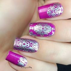 Create beautiful nail art with Moroccan patterns, a pharaoh, hieroglyphics and much more with this exotic nail stamping plate.