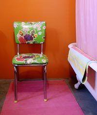 oil cloth chair