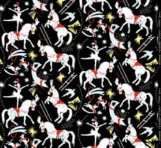 'Cirque D'Hiver' by Mark Hearld, his latest fabric design for St Jude's