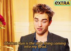 When he took this question very literally. | 26 Times Robert Pattinson Was A Total Freakin' Weirdo