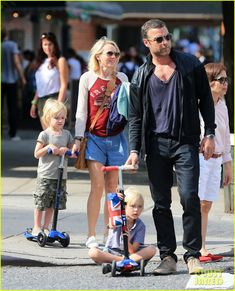 Naomi Watts rides a golf cart after attending rehearsals for 2013 Tropfest New York held on Saturday afternoon (June 22) in the Prospect Park area of Brooklyn, New York. The 44-year-old actress was joined by her hubby Liev Schreiber and their sons Sasha, 5, and Samuel, 4