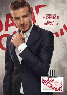 Urban Homme de David Beckham  Classic, Instinct o Urban Homme (en la imagen) son algunos de los nombres elegidos por David Beckham para su propia colección de colonias.