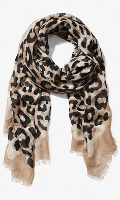 Express Overlapping Leopard Print Quad Scarf on shopstyle.com