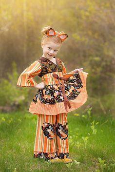 Little Girls Thanksgiving Outfit Girls Fall by PinkMouseKids