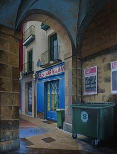 """Jose Ramón Muro - """"Coffe bar at Bilbao"""""""