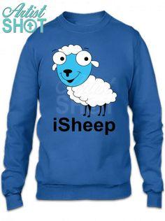 da38480a2 Custom Sleepy Sheepy Crewneck Sweatshirt By Designbysebastian - Artistshot