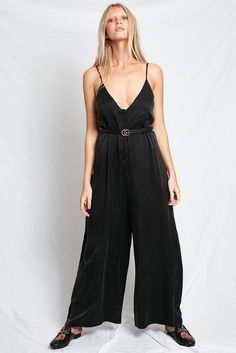 Silk Laundry presents our Wide Leg Jumpsuit in Black featuring beautifully covered silk buttons. The perfect garment to wear everyday, from morning to night! Designed in Australia and made from sandwashed silk. Satin Jumpsuit, Black Jumpsuit, Silk Slip, Dress Collection, Wide Leg, Feminine, Birthday Wishlist, How To Wear, Ootd