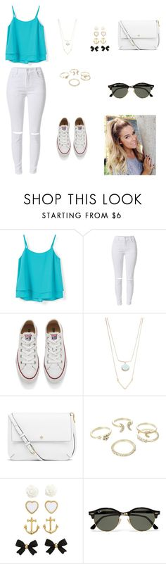 """Untitled #20"" by athary2002 ❤ liked on Polyvore featuring MANGO, Converse, Robert Rose, Tory Burch, Lipsy, H&M and Ray-Ban"